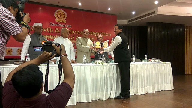 "Sh.V.K.Kalra Member (Power) BBMB received ""Bharat Jyoti Award""on26.03.2018 from India International Friendship Society for Meritorious Services, Outstanding Performance & Remarkable Role."