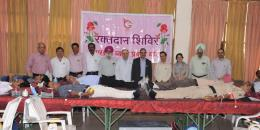 BBMB Organised Blood Donation Camp at Chandigarh. 155 BBMB's employees donated blood on this occasion.