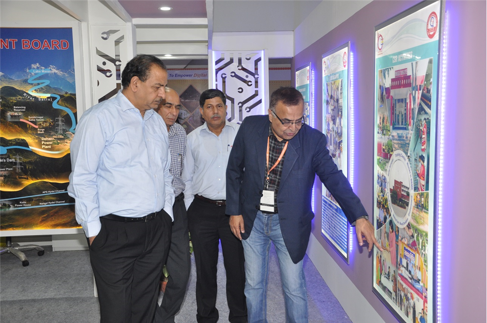 Sh. S.K. Sharma, Chairman, BBMB inspected BBMB pavilion at IITF – 2016