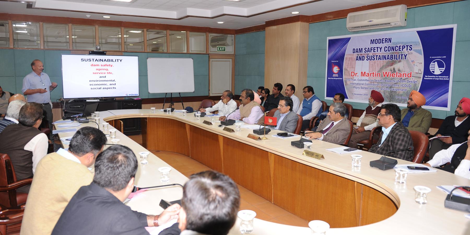 बीबीएमबी द्वारा आधुनिक बांध सुरक्षा अवधारणाओं और सस्टेनेबिलिटी पर एक व्याख्यान का आयोजन