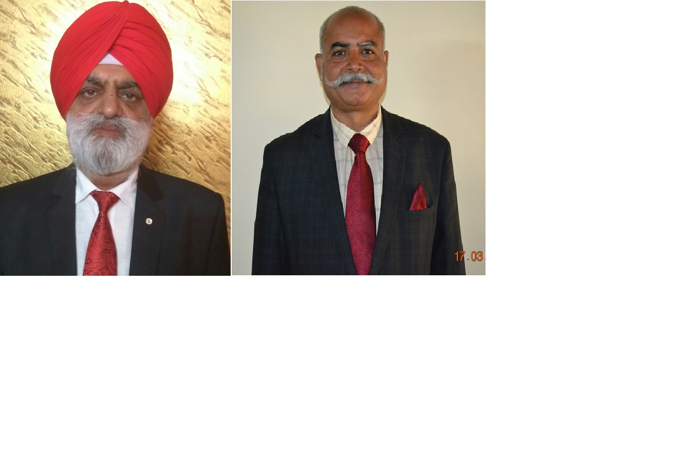 Dr. Gulab Singh Narwal and Er. Harminder Singh joins as Member, Irrigation and Member, Power respectively in BBMB on 27.3.2019 (AN).