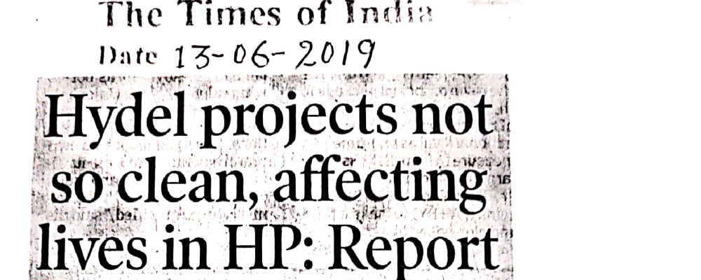 Hydel projects not so clean, affecting lives in HP : Report