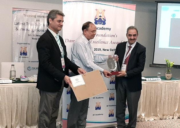 श्री डी.के. शर्मा, अध्यक्ष, बीबीएमबी को बांध सुरक्षा-व्यक्तिगत व्यवसायी उत्कृष्टता पुरस्कारI