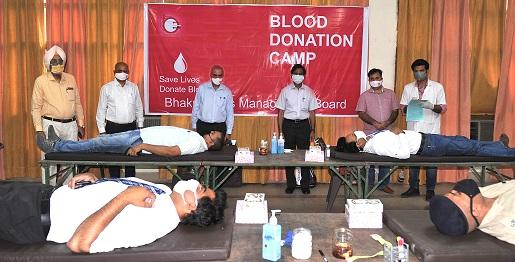 बीबीएमबी ने रक्तदान शिविर आयोजित किया